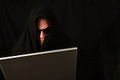 Stock photo of computer hacker