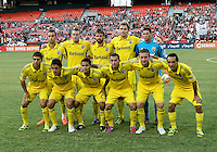WASHINGTON, DC - AUGUST 4, 2012:  Starting eleven of the Columbus Crew during an MLS match against DC United at RFK Stadium in Washington DC on August 4. United won 1-0.