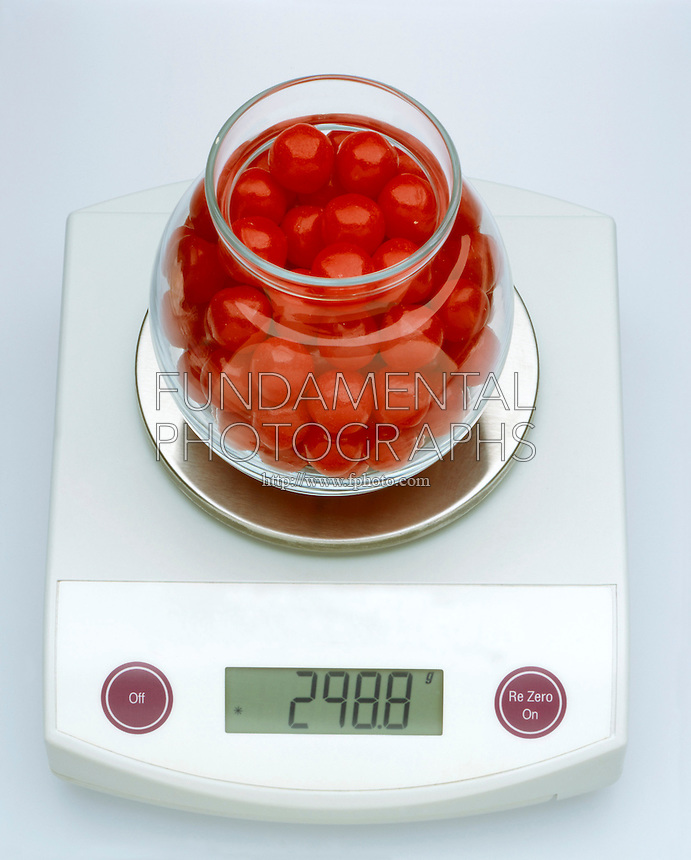 MEASUREMENT: FISHBOWL OF CANDY ON DIGITAL SCALE<br />