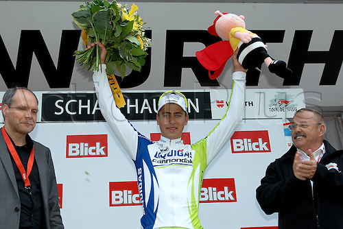 17.06.2011 Tour of Switzerland Cycling Stage 8 Tubach to Schaffhausen. Picture shows Peter Sagan celebrating on the podium.
