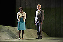 "London, UK. 06.03.2013. English Touring Opera presents SIMON BOCCANEGRA at the Hackney Empire, prior to touring it in rep with ""Cosi Fan Tutte"" and ""The Siege of Calais"".  Picture shows: Elizabeth Llewellyn (Amelia) and Craig Smith (Simon Boccanegra). Photo credit: Jane Hobson."