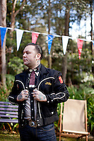 Ben Milgate is pictured at The 2012 Historic Houses Trust of NSW annual Fifties Fair at Rose Seidler House, Sydney. Picture James Horan