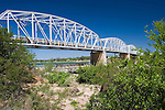 Roy Inks Bridge built over the Llano River in 1935 in the town of Llano, Texas. Roy Inks is the former mayor of Llano.