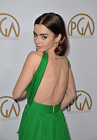 Lily Collins at the 2017 Producers Guild Awards at The Beverly Hilton Hotel, Beverly Hills, USA 28th January  2017<br /> Picture: Paul Smith/Featureflash/SilverHub 0208 004 5359 sales@silverhubmedia.com