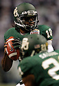 Baylor's Robert Griffin III looks to pass during game action against Washington of the 2011 Valero Alamo Bowl at the Alamodome in San Antonio, Texas on Thursday, Dec. 29, 2011. Baylor won 67-56.