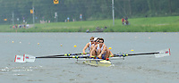 Amsterdam, NETHERLAND, GBR LM4-. Bow. Jonathan CLEGG, Jon PRESTON, William FLETCHER and Jamie KIRKWOOD..  2011 FISA U23 World Rowing Championships, {dow], {date} [Mandatory credit:  Intersport Images].