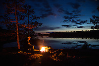 &quot;Spring Campfire on Basswood Lake&quot;<br />