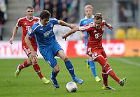 Fussball  1. Bundesliga  Saison 2013/2014   11. Spieltag  in Sinzheim TSG 1899 Hoffenheim - FC Bayern Muenchen    02.11.2013 Mario Goetze (re, FC Bayern Muenchen) gegen David Abraham (TSG 1899 Hoffenheim)
