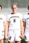 07 September 2012: Marquete's Katie Hishmeh. The University of North Carolina Tar Heels defeated the Marquette University Golden Eagles 4-0 at Koskinen Stadium in Durham, North Carolina in a 2012 NCAA Division I Women's Soccer game.