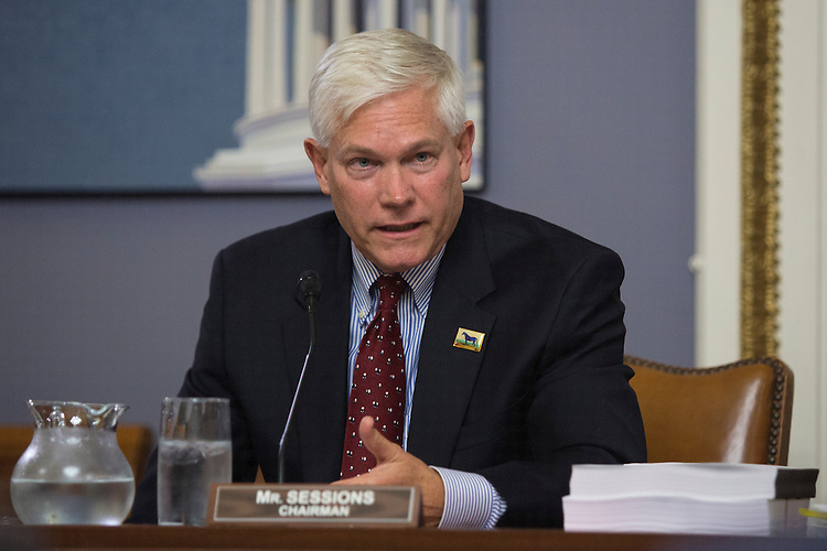 """UNITED STATES - NOVEMBER 2 - Chairman Pete Sessions, R-Texas, speaks during a House Rules Committee meeting on """"Developing a Reliable and Innovative Vision for the Economy (DRIVE) Act"""" on Capitol Hill in Washington, Wednesday, November 2, 2015. (Photo By Al Drago/CQ Roll Call)"""