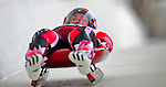 7 February 2009: Jeff Christie slides for Canada in the Men's Competition at the 41st FIL Luge World Championships, in Lake Placid, New York, USA. .  .Mandatory Photo Credit: Ed Wolfstein Photo