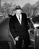 """Washington, D.C. - December 8, 1966 -- Former United States President Dwight D. Eisenhower arrives at Walter Reed Army Hospital in Washington, DC on December 8, 1966 to have his Gall Bladder removed.  He told reporters that he hoped to be out of the hospital before Christmas so he could spend the holidays with his family..Credit: Benjamin E. """"Gene"""" Forte / CNP"""