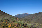 A view of a distant mountain peak in Point Mugu State Park, just north of Malibu, California, USA