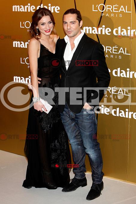 David Bisbal and Raquel Jiménez attend Marie Claire Prix de la Moda awards 2012 at French Embassy in Madrid. November 22, 2012. (ALTERPHOTOS/Caro Marin) /NortePhoto