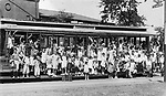 """Children from New York came to the WAterbury area as part of the """"Fresh Air Children's"""" program, 14 July 1932. This was a program to get the city kids out to experience life in the country."""