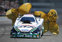 May 5, 2012; Commerce, GA, USA: NHRA funny car driver Mike Neff during qualifying for the Southern Nationals at Atlanta Dragway. Mandatory Credit: Mark J. Rebilas-