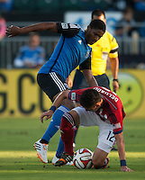 Santa Clara, California - Thursday, July 2, 2014: Chivas USA defeated the San Jose Earthquakes 1-0 during a Major League Soccer (MLS) match at Buck Shaw Stadium.