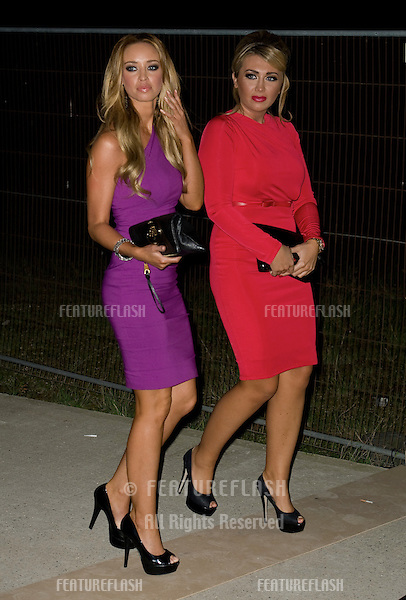 Lauren Goodger and Lauren Pope arriving for the Spectacle Wearer of the Year 2011 Awards, London. 16/11/2011  Picture by: Simon Burchell / Featureflash