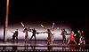 Transfigured Night<br /> Choreography by Kim Brandstrup<br /> at Sadler&rsquo;s Wells, London, Great Britain <br /> press photocall / rehearsal <br /> 3rd November 2015 <br /> <br /> Music by Arnold Schoenberg - Verkl&auml;rte Nacht<br /> Designed by Chloe Lamford<br /> Lighting design by Fabiana Piccioli<br /> <br /> <br />  Simone Damberg W&uuml;rtz<br /> in red dress <br /> <br /> <br /> <br /> Image licensed to Elliott Franks Photography Services