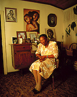 Anti-apartheid activist Ellen Kuzwayo at her home in Soweto.