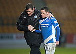 St Johnstone v Hamilton Accies&hellip;28.01.17     SPFL    McDiarmid Park<br />Danny Swanson gets a well donw from Tommy Wright as he is subbed<br />Picture by Graeme Hart.<br />Copyright Perthshire Picture Agency<br />Tel: 01738 623350  Mobile: 07990 594431