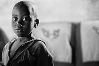 A young orphaned boy in Kitwe, Zambia on May 13, 2001. He is among the more than 13 million African children who have been orphaned by the the AIDS pandemic. Worldwide, more than 20 million people have died since the first cases of AIDS were identified in 1981.
