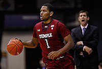 INDIANAPOLIS, IN - JANUARY 26: Khalif Wyatt #1 of the Temple Owls is seen during the game against the Butler Bulldogs at Hinkle Fieldhouse on January 26, 2013 in Indianapolis, Indiana. (Photo by Michael Hickey/Getty Images) *** Local Caption *** Khalif Wyatt