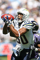 09/20/09 San Diego, CA: WR Malcom Floyd #80 of the San Diego Chargers in action during an NFL game against the Baltimore Ravens played at Qualcomm Stadium. The Ravens defeated the Chargers 31-26.