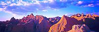 Badlands panoramic view, Badlands National Park, South Dakota