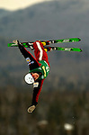 16 January 2005 - Lake Placid, New York, USA - Amber Peterson representing Canada, competes in the FIS World Cup Ladies' Aerial acrobatic competition, ranking 22nd for the day at the MacKenzie-Intervale Ski Jumping Complex, in Lake Placid, NY. ..Mandatory Credit: Ed Wolfstein Photo.