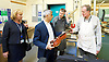 Sadiq Khan, the Mayor of London, officially launches Skills for Londoners &ndash; a new initiative that aims to ensure that all Londoners have the opportunity to train in the skills that the capital&rsquo;s economy needs.<br /> <br /> At South Thames College (Merton Campus) London Rd, Morden, Great Britain on 27th April 2017.<br /> <br /> The Mayor joins students at South Thames College (Merton Campus) who are learning how to repair motorcycles before seeking employment or setting up their own business.<br /> <br /> <br /> meeting students in the violin workshop including Richard Elliston <br /> <br /> <br /> <br /> Photograph by Elliott Franks <br /> Image licensed to Elliott Franks Photography Services