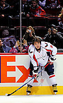 10 February 2010: Washington Capitals' left wing forward and Team Captain Alex Ovechkin warms up prior to a game against the Montreal Canadiens at the Bell Centre in Montreal, Quebec, Canada. The Canadiens defeated the Capitals 6-5 in sudden death overtime, ending Washington's team-record winning streak at 14 games. Mandatory Credit: Ed Wolfstein Photo