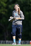 15 August 2014: Former UNC player and team assistant Brittani Bartok. The University of North Carolina Tar Heels hosted the University of Missouri Tigers at Fetzer Field in Chapel Hill, NC in a 2014 NCAA Division I Women's Soccer preseason match. Missouri won the exhibition 2-1.