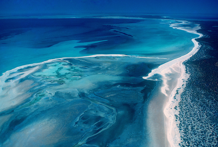 Aerial View of Shark Bay: Photo Credits to Gunther Deichmann