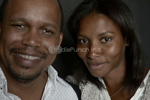 MIAMI BEACH, FL - MARCH 05: Director Kareem Mortimer and actor Sky Nicole Grey from the film 'Cargoí poses for a portrait in the Vallerymag.com Portrait Studio during the 2017 Miami Dade Collegeís 34th Miami Film Festival portrait at The Standard Hotel on March 5, 2017 in Miami Beach, Florida. Credit: MPI10 / MediaPunch