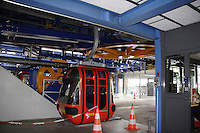 MOUNTAIN TRANSPORTATION<br /> Cable Car Moving Through Terminal By Rotating Tire<br /> Mt. Pilatus, Switzerland<br /> A cable car is a type of aerial lift which consists of a loop of steel cable that is strung between two stations, over intermediate supporting towers. It utilizes principles of simple machines- pulleys, gears and levers.