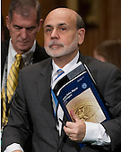 Ben Bernanke, Chairman, Board of Governors of the Federal Reserve System completes his testimony on The Semiannual Monetary Policy Report to the Congress. before the United States Senate Committee on Banking, Housing, and Urban Affairs on Capitol Hill in Washington, D.C. on Thursday, March 1, 2012..Credit: Ron Sachs / CNP