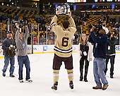 Patrick Wey (BC - 6) - The Boston College Eagles defeated the Northeastern University Huskies 6-3 on Monday, February 11, 2013, at TD Garden in Boston, Massachusetts.