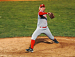 21 August 2010: Brooklyn Cyclones pitcher Adam Kolarek in action against the Vermont Lake Monsters at Centennial Field in Burlington, Vermont. The Cyclones defeated the Lake Monsters 8-7 in a 12-inning game that had to be resumed in Brooklyn on August 31 due to late inning rain. Mandatory Credit: Ed Wolfstein Photo