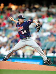 5 September 2009: Minnesota Twins' relief pitcher Matt Guerrier on the mound against the Cleveland Indians at Progressive Field in Cleveland, Ohio. The Twins defeated the Indians 4-1 in the second game of their three-game weekend series. Mandatory Credit: Ed Wolfstein Photo