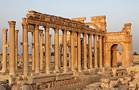 The Monumental Arch, erected under the reign of Septimius Severus (193 - 211 AD) : View from the back, Palmyra, Syria Picture by Manuel Cohen