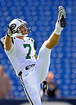 30 September 2007: New York Jets punter Ben Graham warms up prior to facing the Buffalo Bills at Ralph Wilson Stadium in Orchard Park, NY. The Bills defeated the Jets 17-14 handing the Jets their third loss of the season...Mandatory Photo Credit: Ed Wolfstein Photo