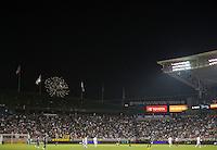CARSON, CA - July 4, 2012: Fireworks during the LA Galaxy vs Philadelphia Union match at the Home Depot Center in Carson, California. Final score LA Galaxy 1, Philadelphia Union 2.
