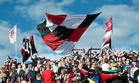 05 May 2012: D.C. United fans show their support during an MLS game between DC United and Toronto FC at BMO Field in Toronto..D.C. United won 2-0.