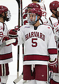 Clay Anderson (Harvard - 5) - The Harvard University Crimson defeated the visiting Cornell University Big Red on Saturday, November 5, 2016, at the Bright-Landry Hockey Center in Boston, Massachusetts.