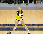 The University of Michigan women's volleyball team beat Iowa, 3-0, at Cliff Keen Arena in Ann Arbor, Mich., on November 3, 2012.