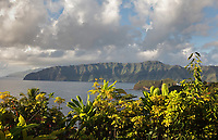 View of Atuona Bay, seen from Temetiu village, near Atuona, on the island of Hiva Oa, in the Marquesas Islands, French Polynesia. Picture by Manuel Cohen