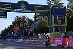 Rohan Dennis (AUS) BMC Racing Team crosses the line to win Stage 7 of the 2017 Tirreno Adriatico a 10km Individual Time Trial at San Benedetto del Tronto, Italy. 14th March 2017.<br /> Picture: La Presse/Gian Mattia D'Alberto | Cyclefile<br /> <br /> <br /> All photos usage must carry mandatory copyright credit (&copy; Cyclefile | La Presse)