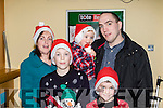 Santa's Looking<br /> ---------------------<br /> At the Kingdom Greyhound Stadium, Tralee last Saturday night for the 'Meet Santa' event were Mandy, Mark, Luke, Ben and Patrick Banbury from Duagh.
