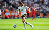 Kerstin Garefrekes of Germany during the FIFA Women's World Cup at the FIFA Stadium in Berlin, Germany on June 26th, 2011.